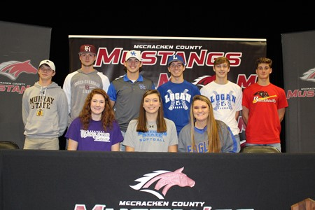 Nine MCHS Seniors Sign College Scholarships