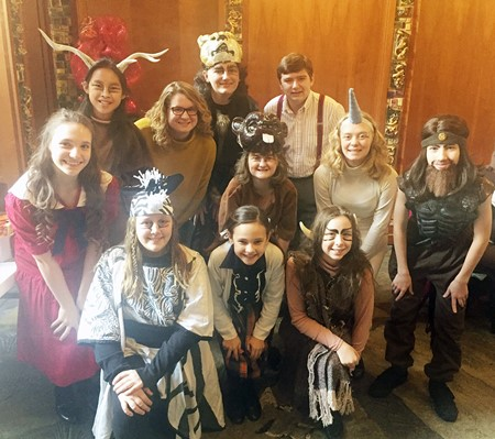 MCPS students and teacher involved in Market House Theatre's THE LION, THE WITCH, AND THE WARDROBE