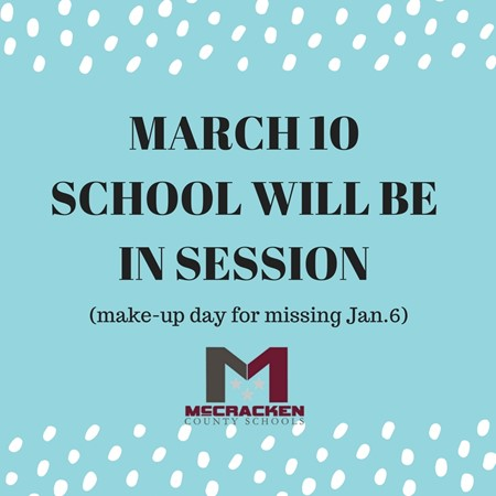 School In Session March 10