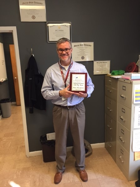 LOI Principal Named Administrator of the Year Award by the West Kentucky Counseling Association