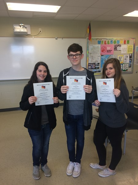 MCHS Students Recently Inducted into the National German Honor Society