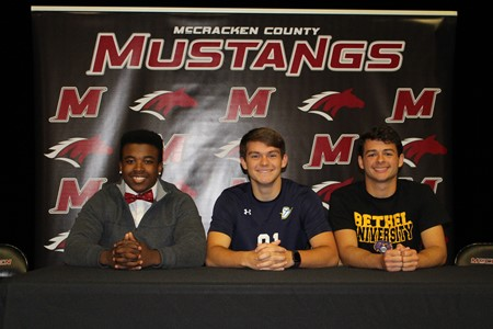 Three MCHS Student Athletes Sign College Scholarships
