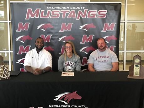McCracken County High School Senior Mackenzie Blackford signs  with Shawnee Community College
