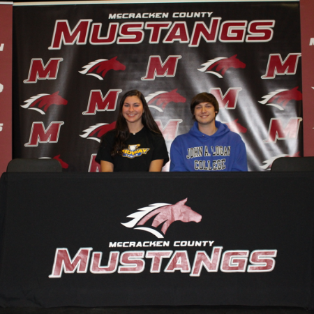 MCHS Students Sign College Scholarships