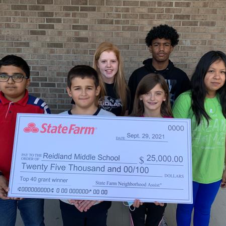 Reidland Middle School Wins $25,000 State Farm Grant