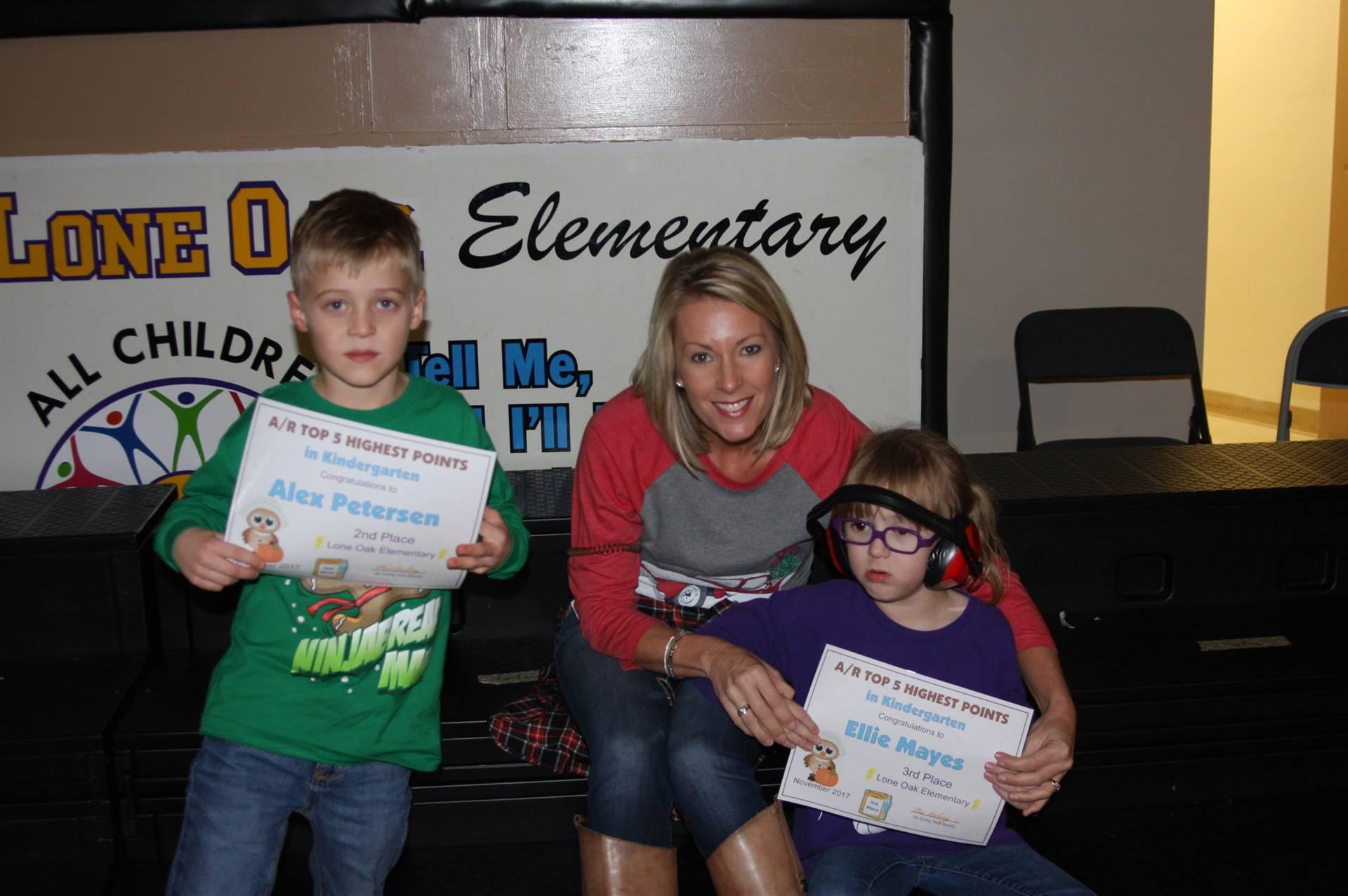 Kindergarten AR Awardees