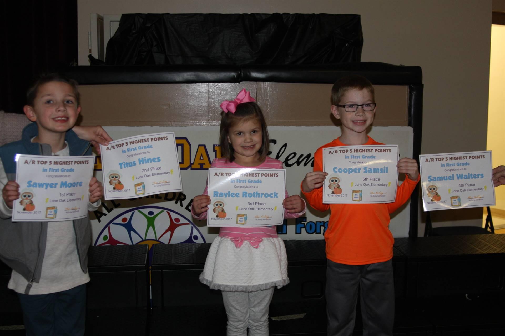 First Grade AR Awardees