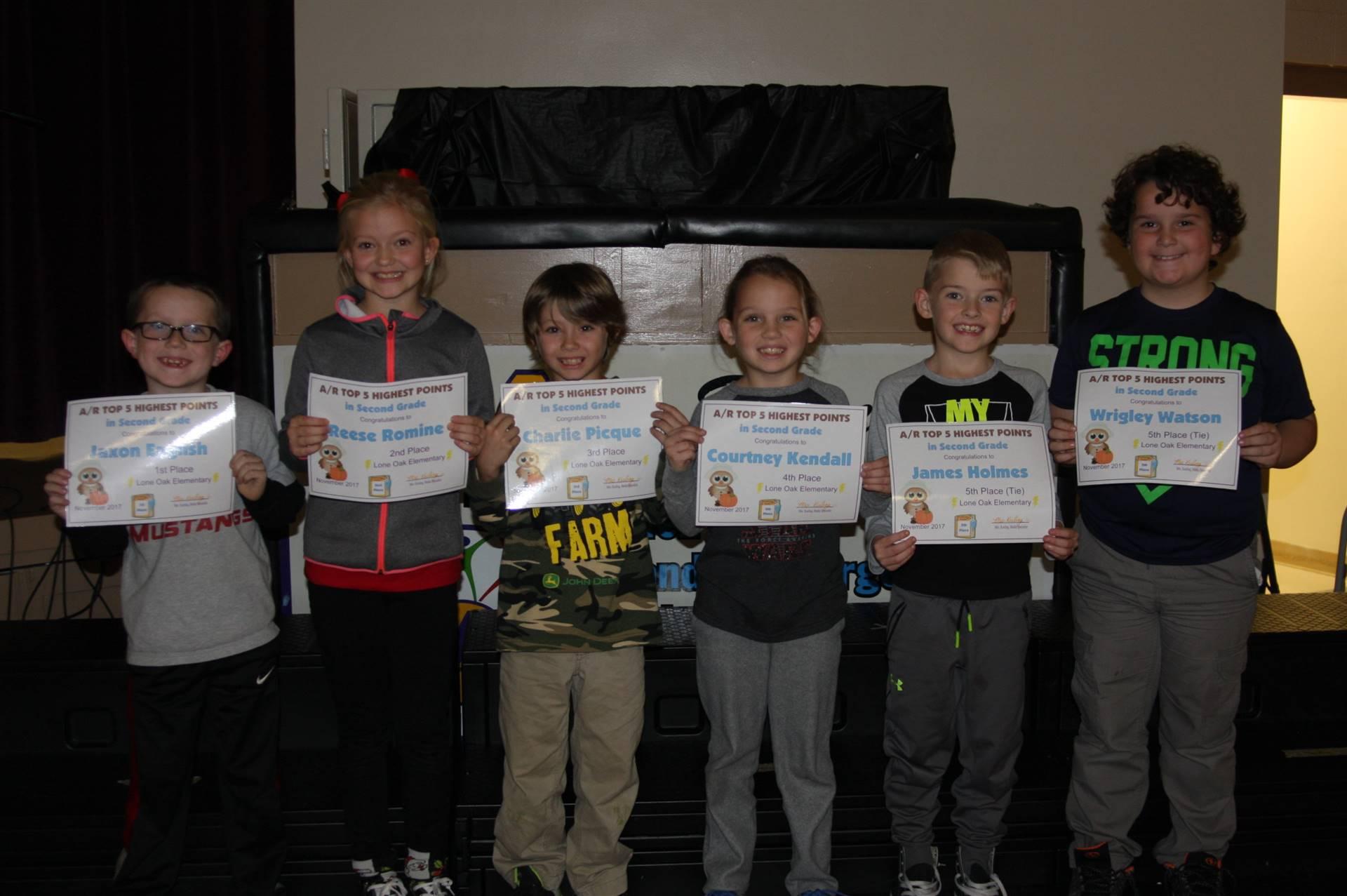 Second Grade AR Awardees