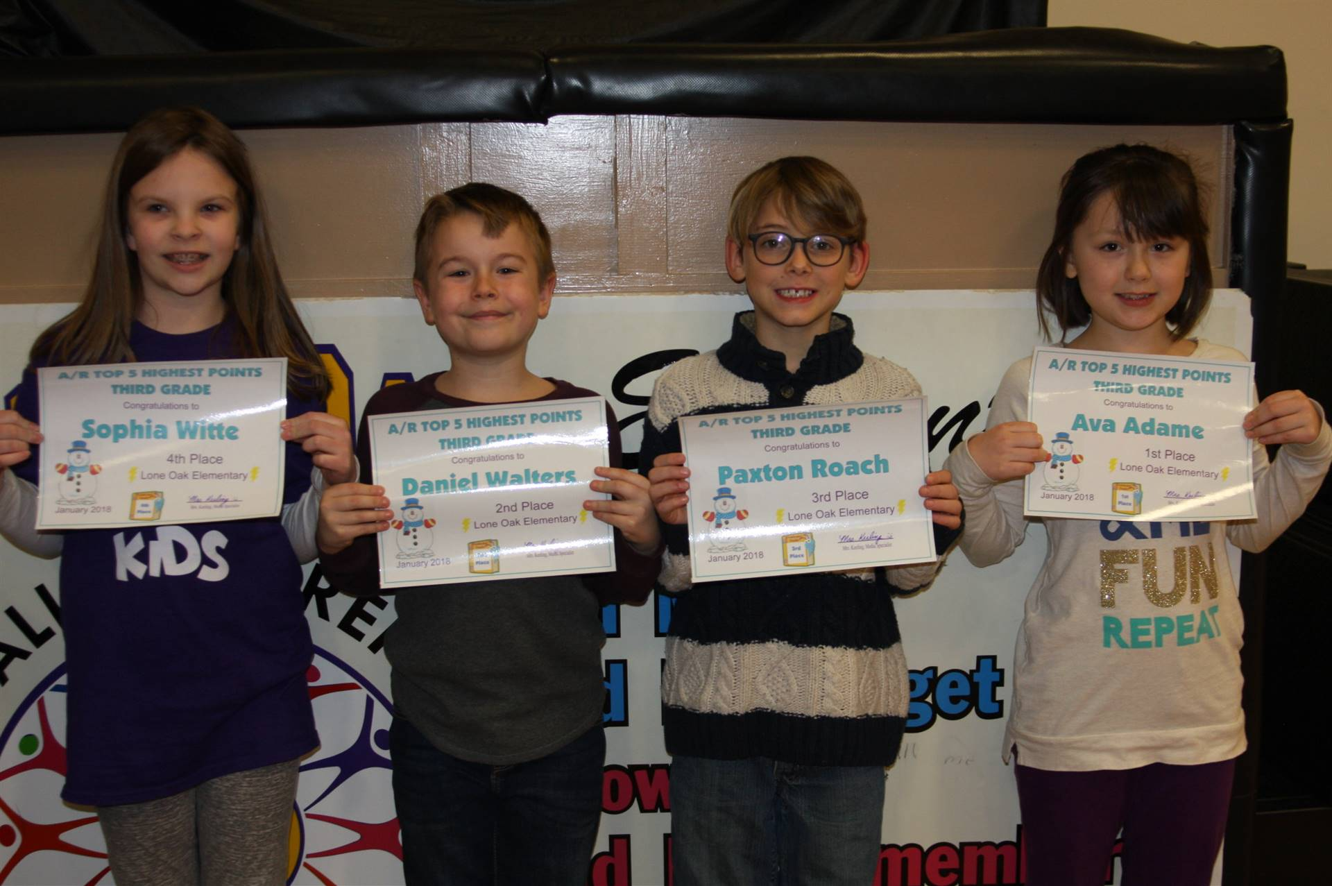 3rd Grade AR Awards