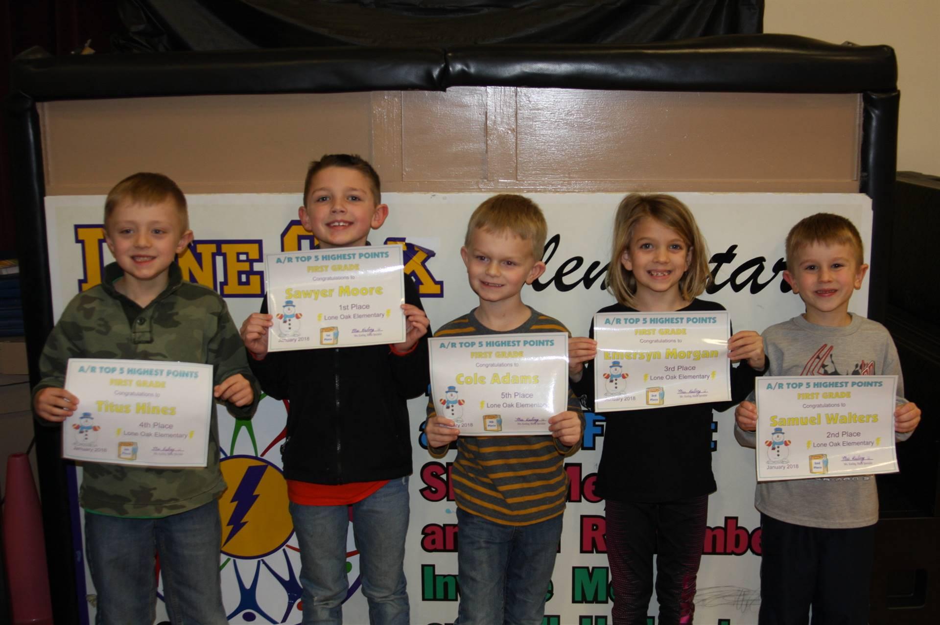 1st Grade AR Awards