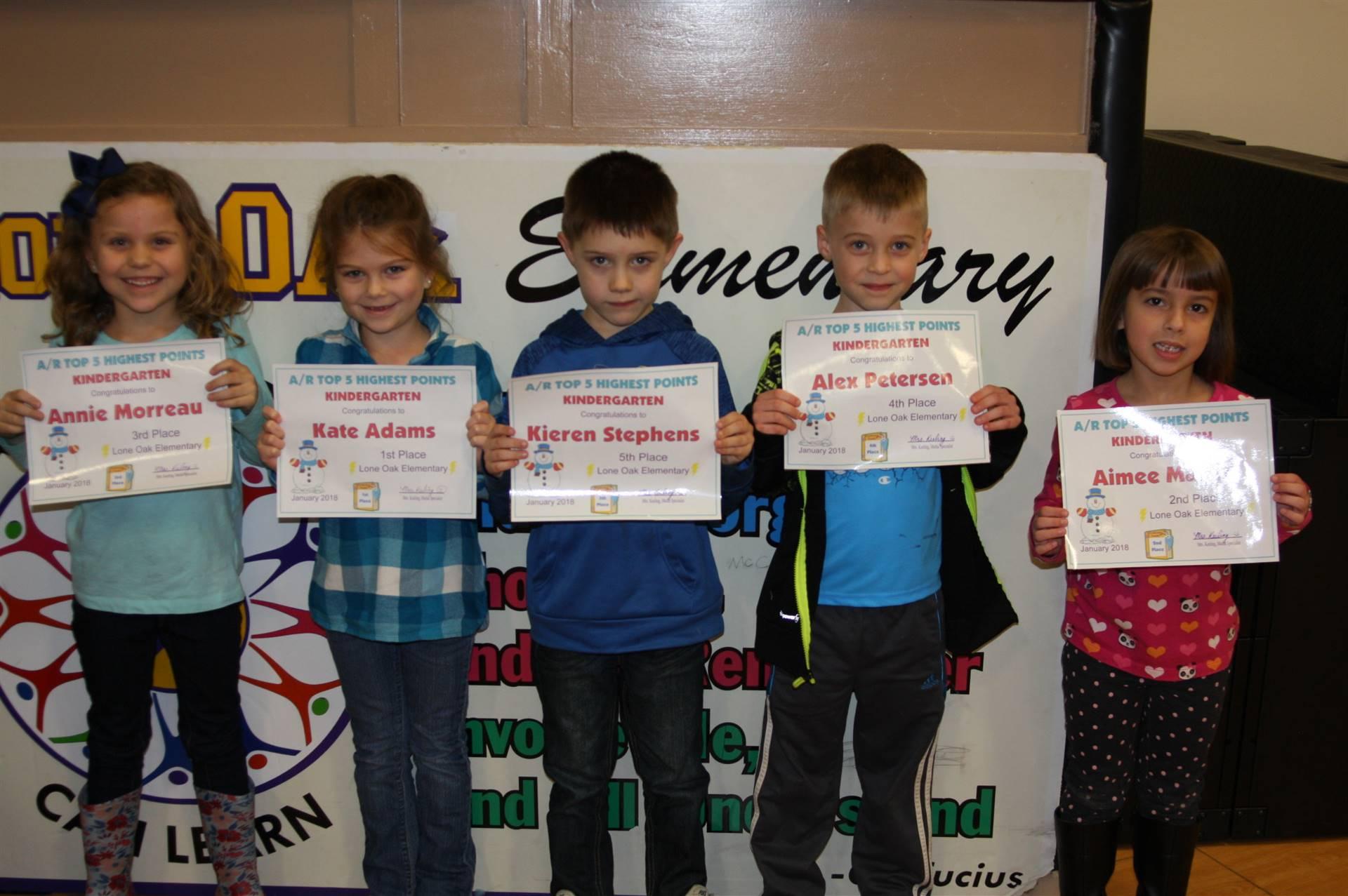 Kindergarten AR Awards