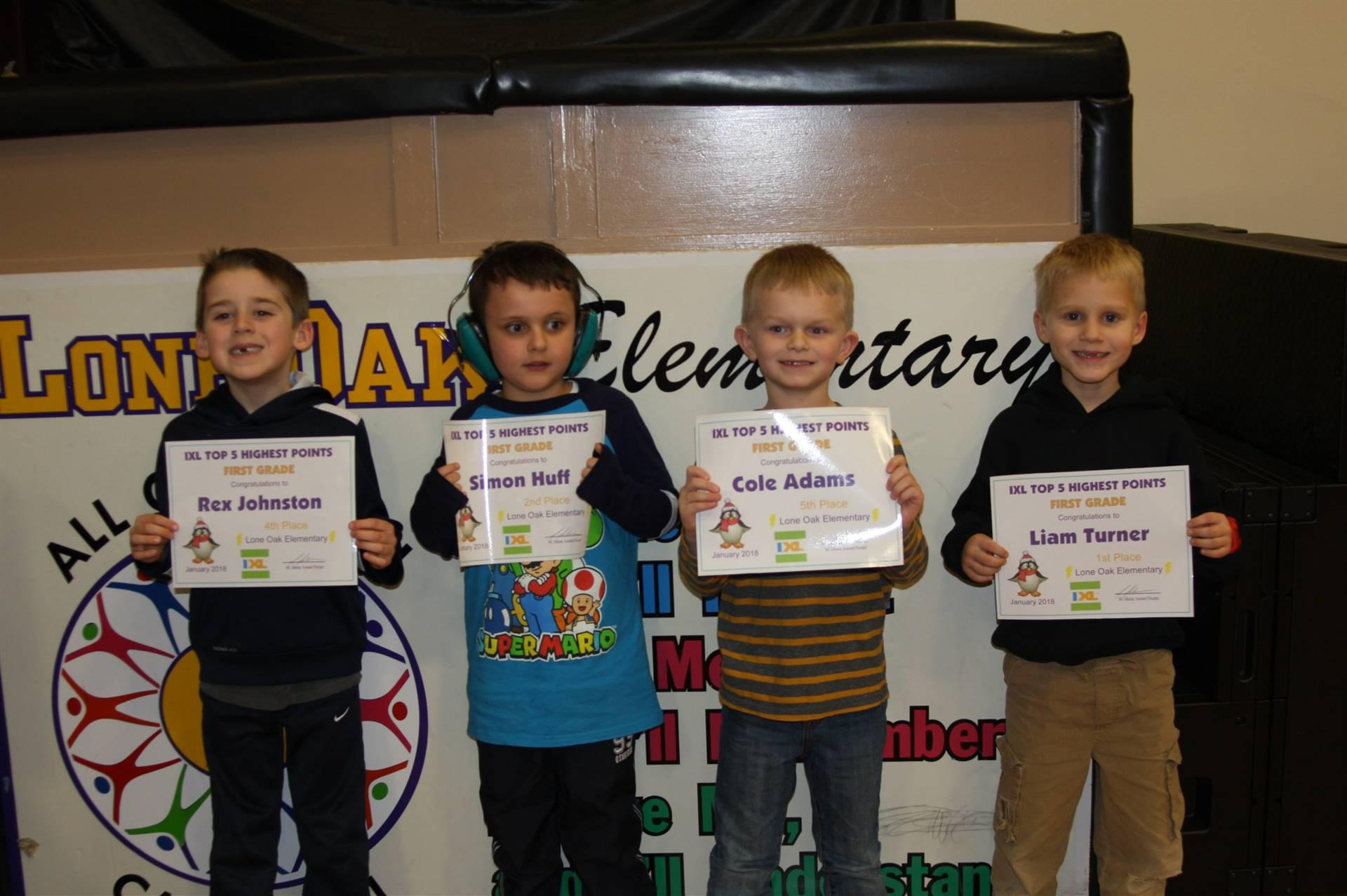 1st Grade IXL Awards