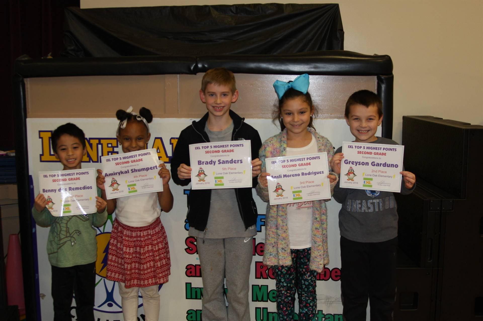 2nd Grade IXL Awards