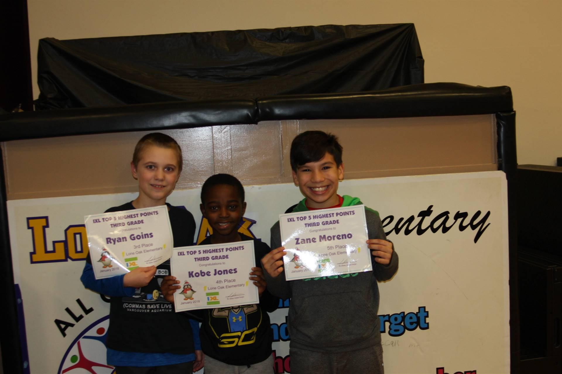 Third Grade IXL Awards