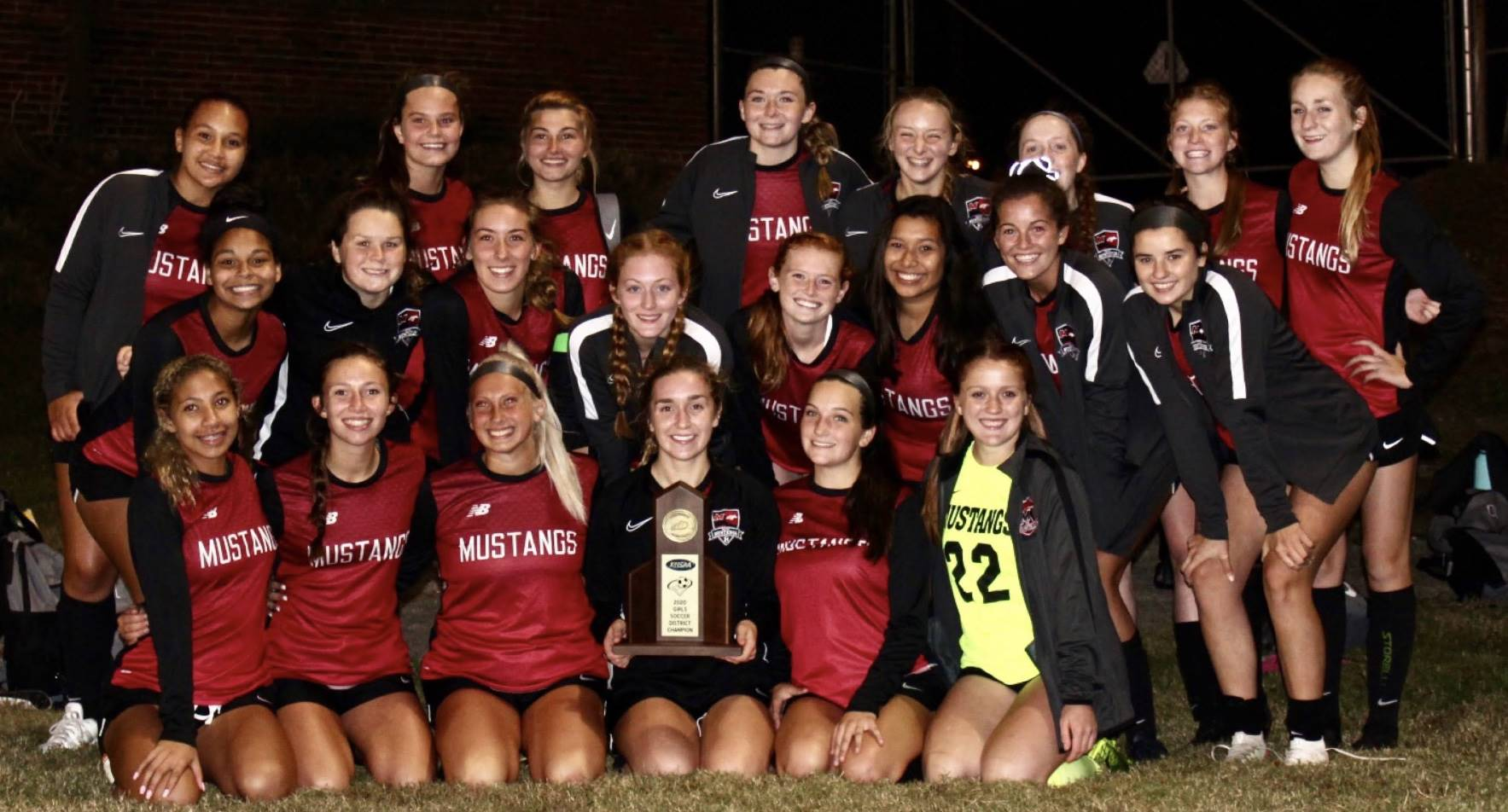 Mustangs Women's Soccer - 2020 District Champions!