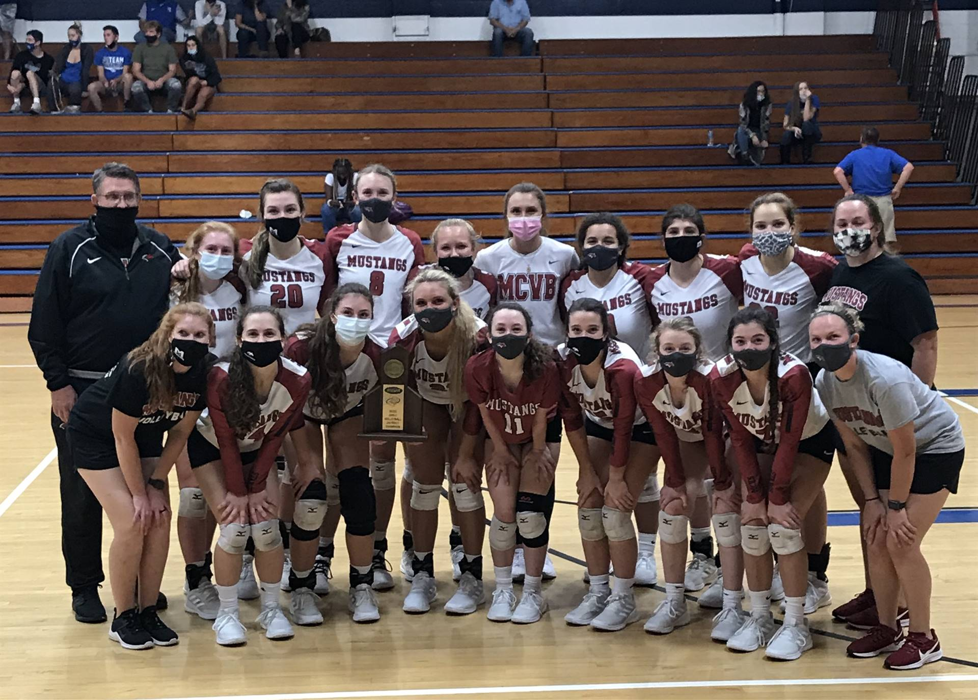 Mustangs Volleyball - 2020 District Champions