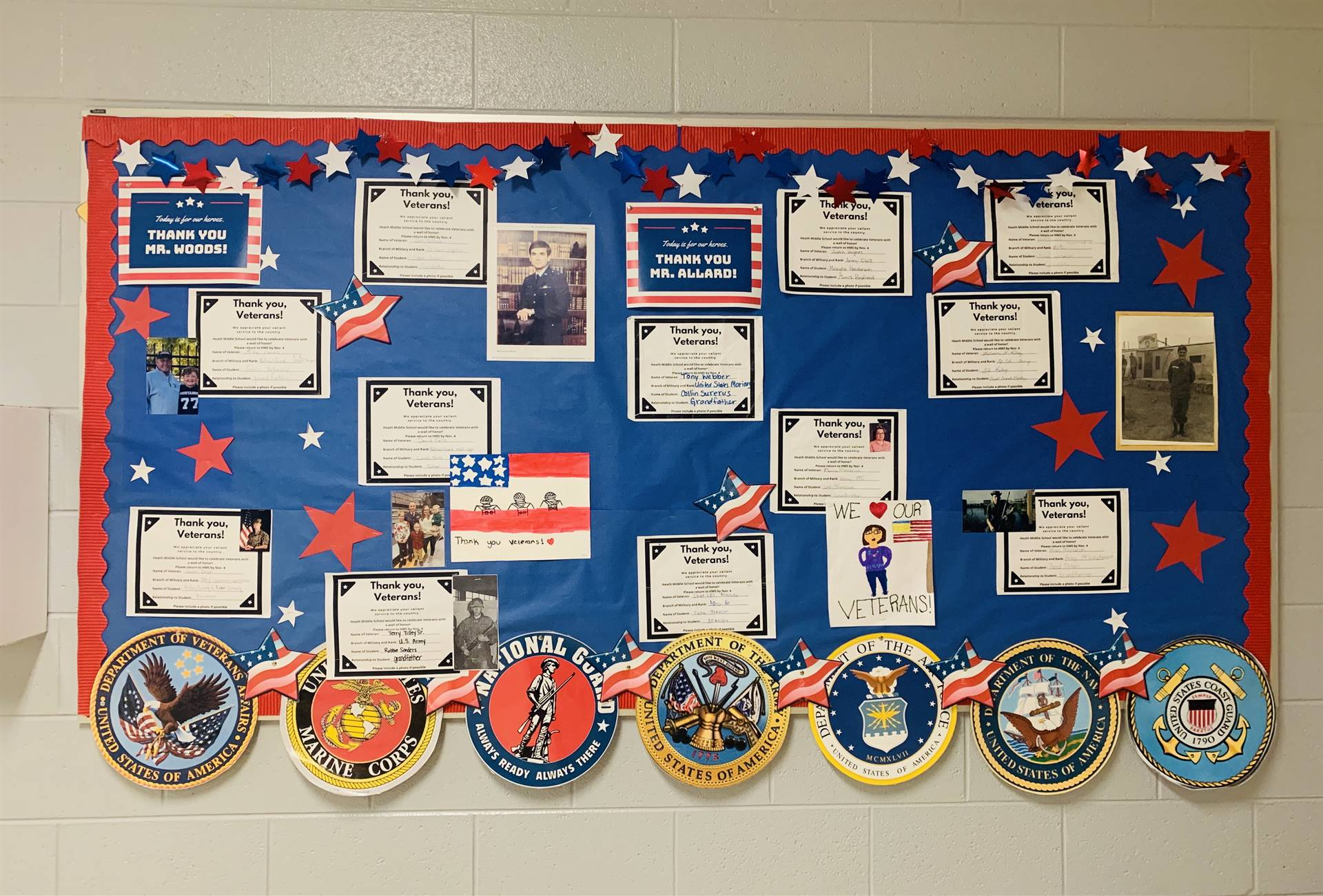 wall of honor at HMS