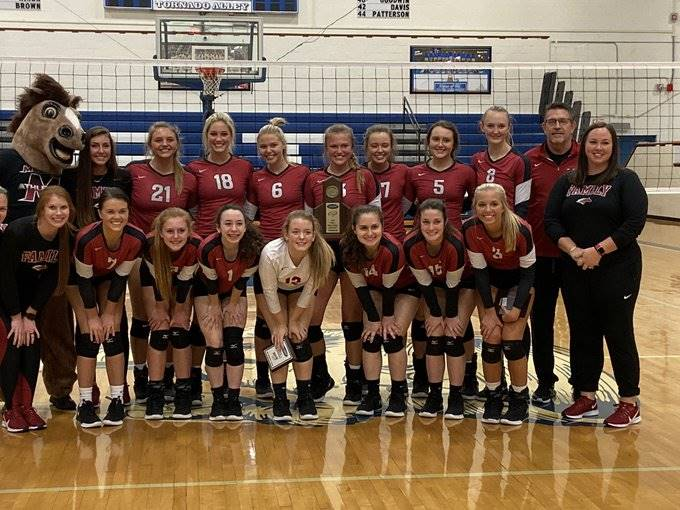 Mustangs Volleyball - 2019 Region Champions!
