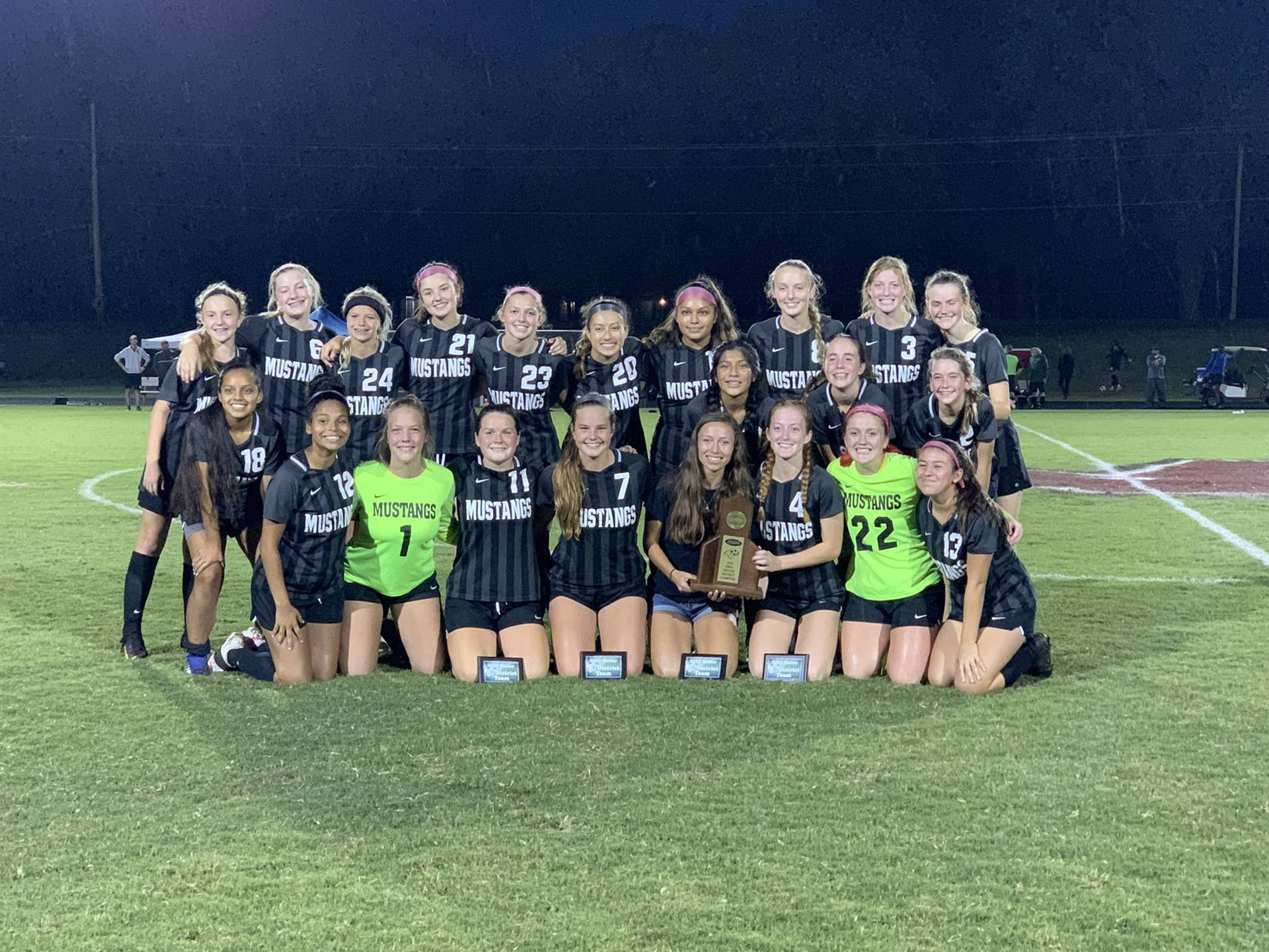 Mustangs Women's Soccer - 2021 District Champions!