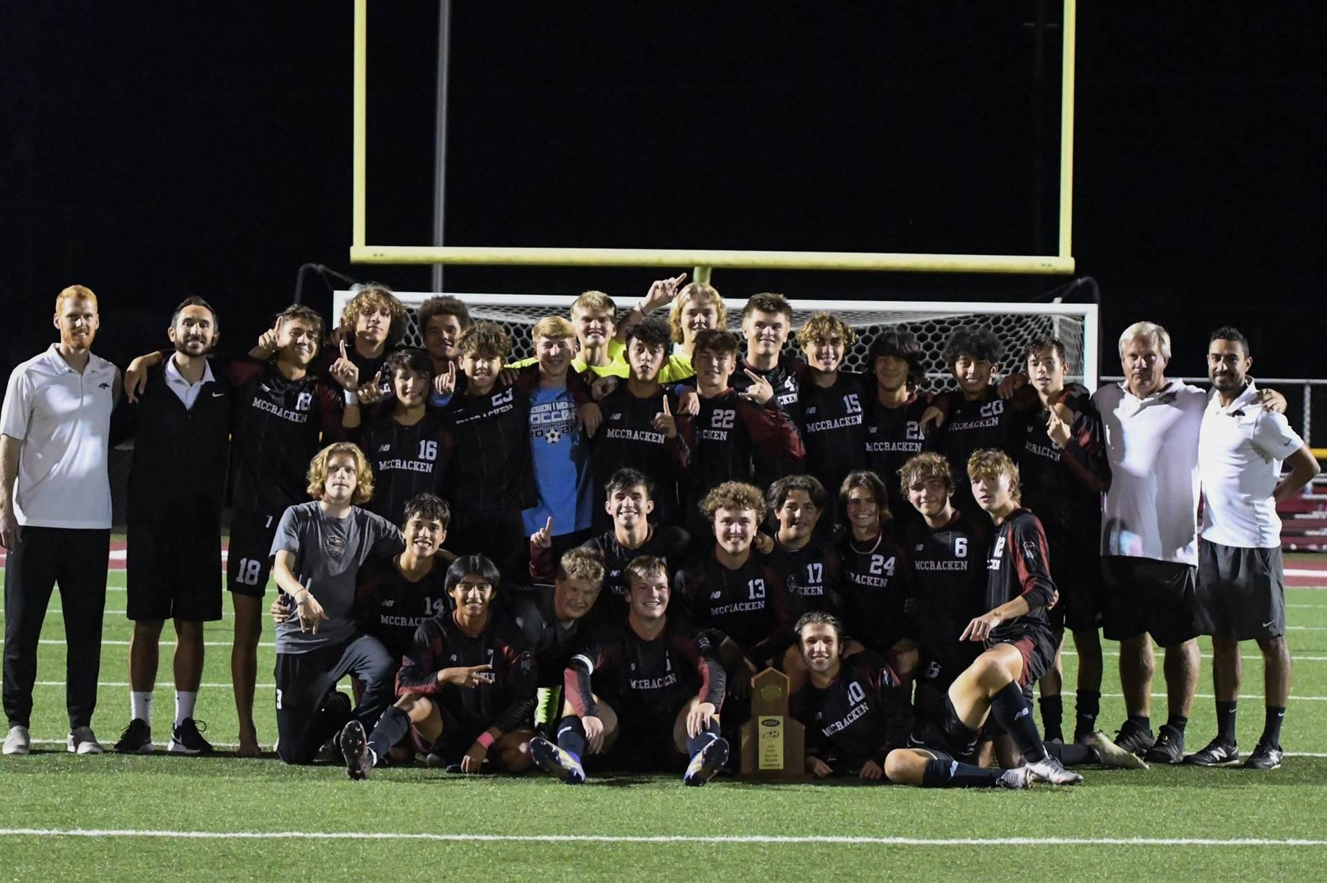 Mustangs Men's Soccer - 2021 Region Champions!!