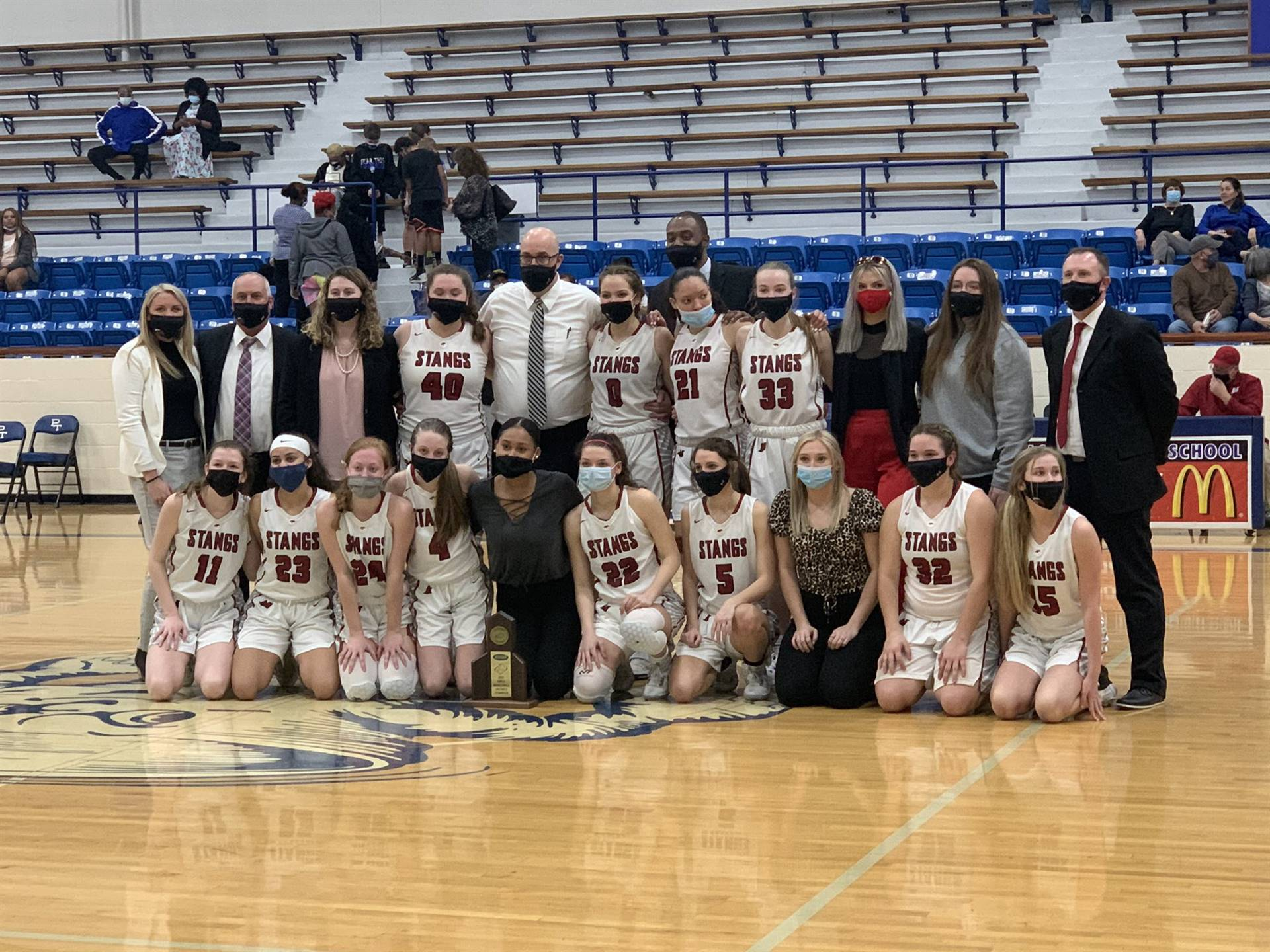 Mustangs Women's Basketball - 2021 District Champions!