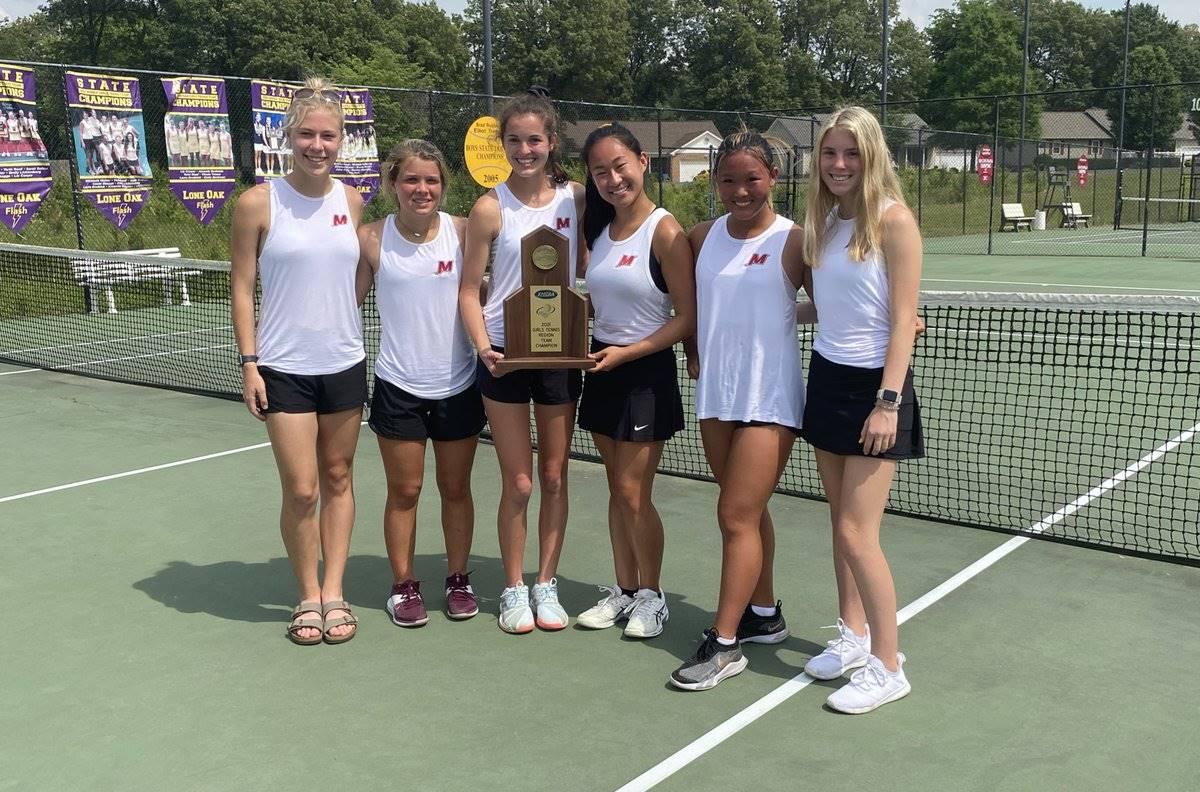 Mustangs Women's Tennis - 2021 Region Champions!