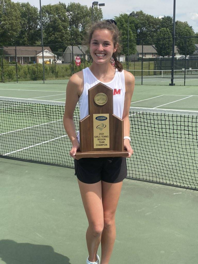 Mustangs Women's Tennis - Shelby Puryear - 2021 Region 1 Singles Champion!