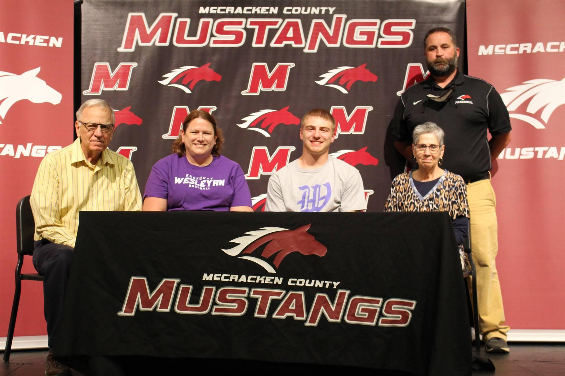 Josh Tucker signs with Kentucky Wesleyan College to play baseball