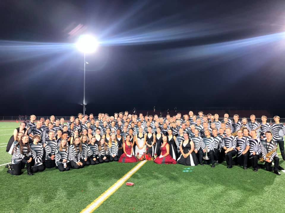 1st in class, 1st percussion, 1st Drum Majors, Best soloist award-Avery Miller & overall Grand Champ