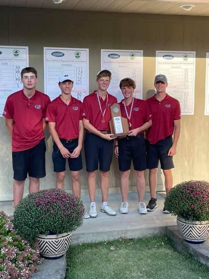 Mustangs Men's Golf - 2021 Region Runner-Up