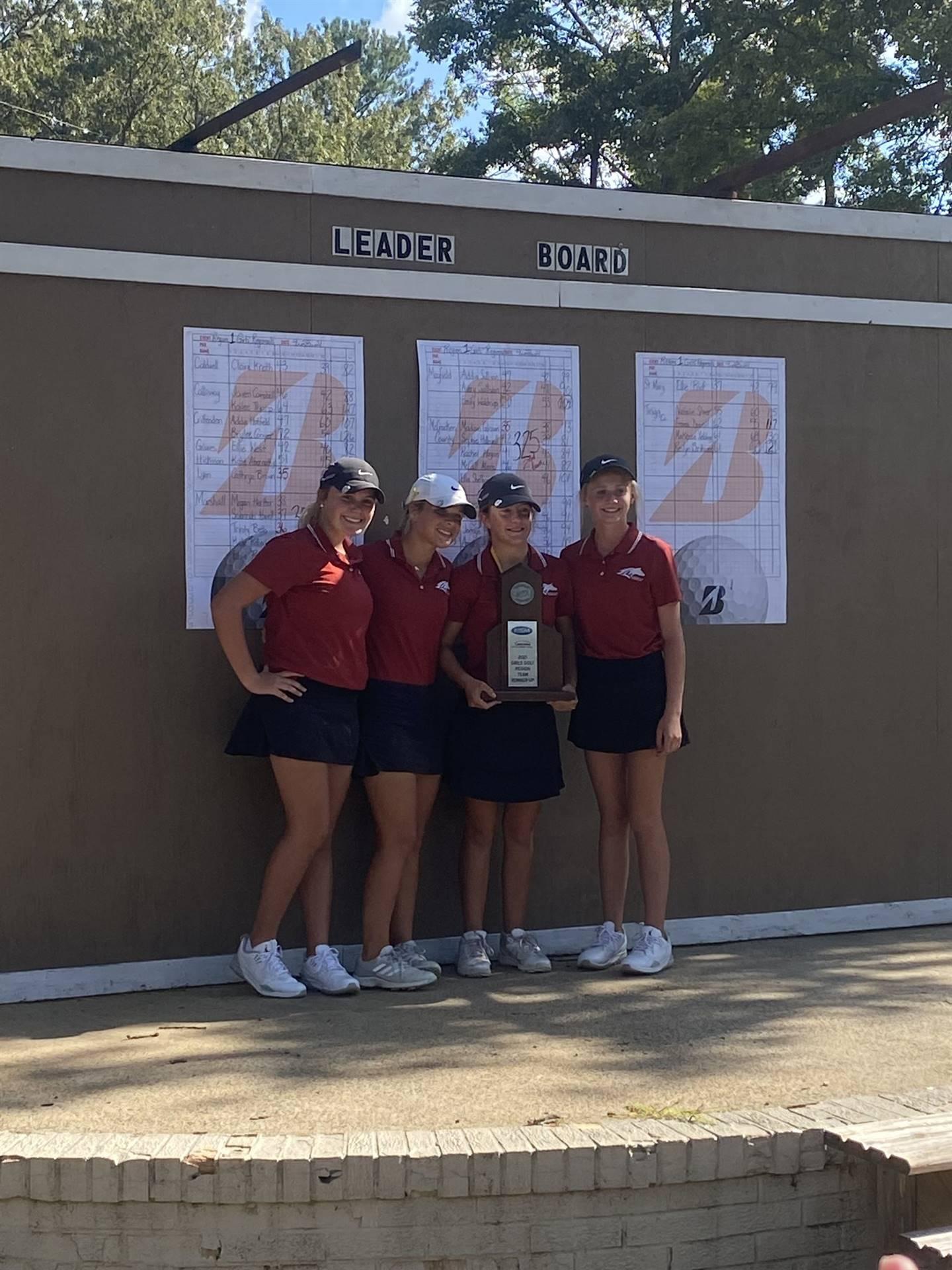 Mustangs Women's Golf - 2021 Region Runner-Up