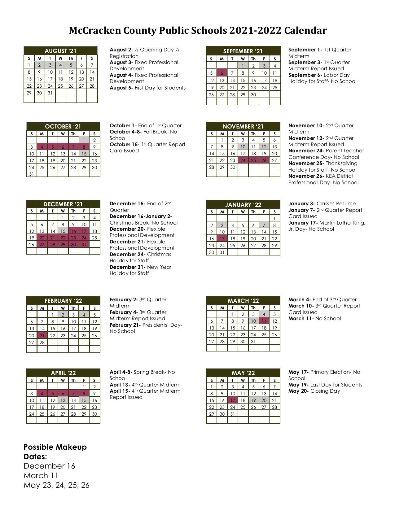 Mcps Calendar 2022.Accelerated Reader